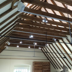 Lighting in rafters